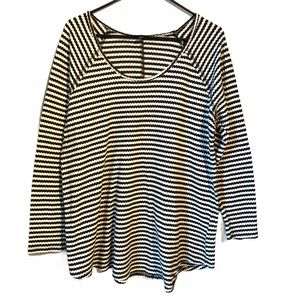 Torrid Plus Size Top Black & White Stripe Womens 2